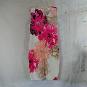 Calvin Klein dress midi bodycon MWT